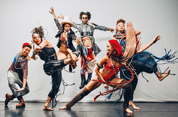 Dance troupe Urban Bush Women perform at the Modlin Center on Sept. 27.