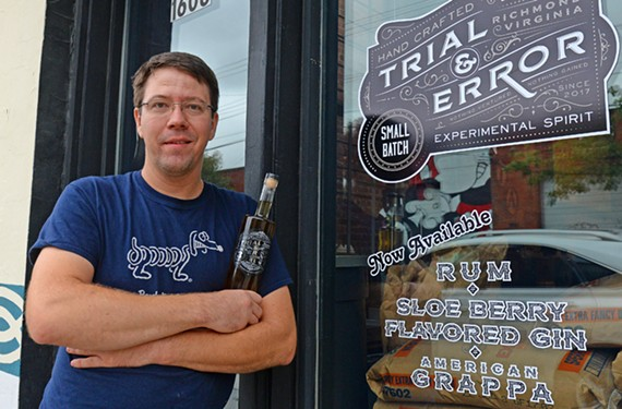 Bombolini co-owner John Kreckman recently launched Trial and Error, a small distillery inside the pasta shop.