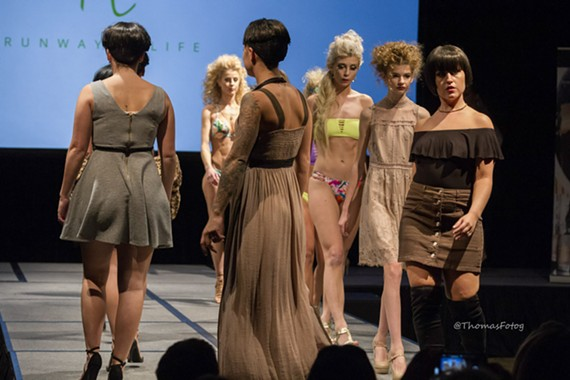 A scene from last year's Runway 2 Life Fashion Show.