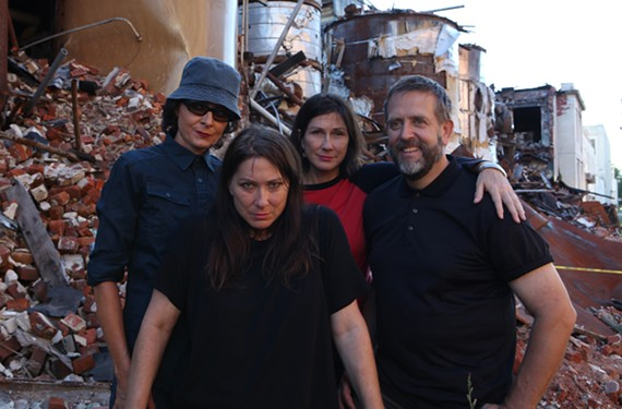 The Breeders are Josephine Wiggs (bass), Kim Deal (guitar and vocals), Kelley Deal (guitar and vocals) and Jim Macpherson on drums.