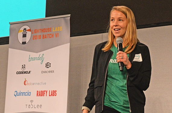Carolyn Kochard was the winner with her Brandefy app, which uses taste testers and ingredient comparisons to shop for products.