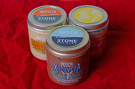 Made in collaboration with Stone, these Nutista nut butters embrace beer flavors.