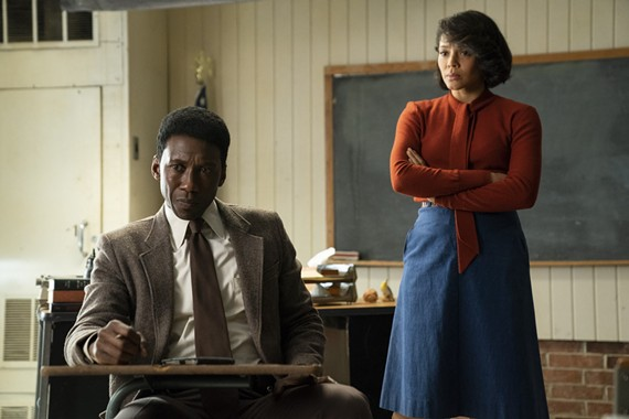 Mahershala Ali as Detective Wayne Hays and Carmen Ejogo as Amelia Reardon, the intriguing school teacher who makes an instant impression on him.