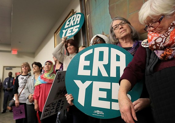 Supporters for the ERA at a Jan. 9 meeting.