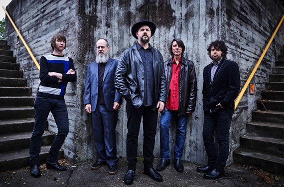The Drive-By Truckers are Matt Patton, Brad Morgan, Patterson Hood, Mike Cooley and Jay Gonzalez.