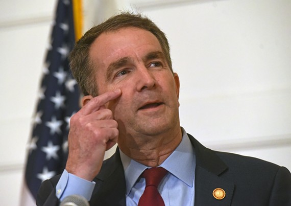 Gov. Ralph Northam faces the press on Feb. 2, saying that he did wear blackface in 1984 but not in the yearbook photo.