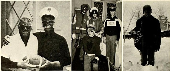 Blackface and Confederate flag imagery is seen in the 1968 yearbook of Bomb: Virginia Military Institute's yearbook.