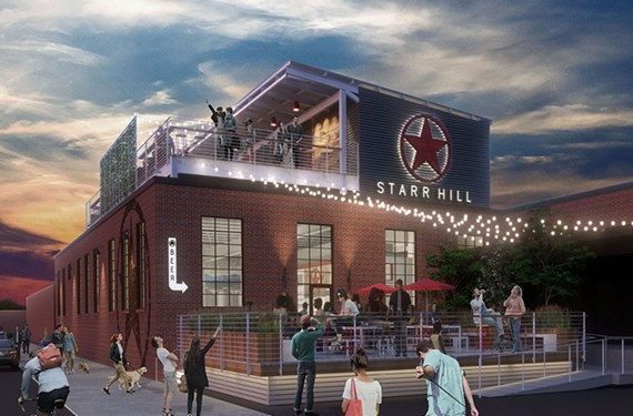 The Starr Hill Beer Hall and Rooftop is slated to open in Scott's Addition this summer.
