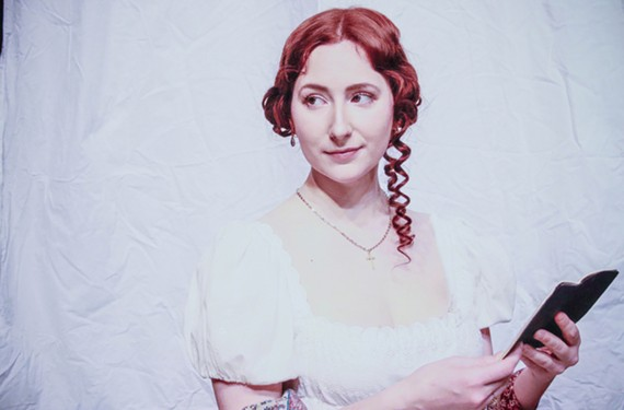 "Irene Kuykendall plays Elizabeth Bennet in Quill Theatre's ""Pride and Prejudice,"" which runs March 7-24 at the Virginia Museum of Fine Arts' Leslie Cheek Theater."