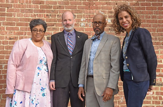 School Board members Felicia Cosby, Jonathan Young, Patrick Sapini and Kenya Gibson sent a letter to the city seeking details of a $30 million increase in construction cost estimates for three new schools — and wonder why they didn't find out sooner.