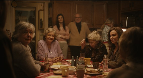 Phyllis Somerville and Mary Kay Place (third and fourth from left) sit among family who know each other all too well.
