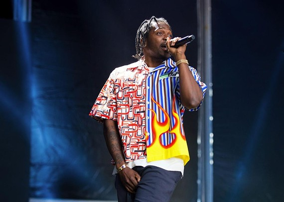 Rapper Pusha-T at the Governor's Ball Music Festival in New York in 2018.