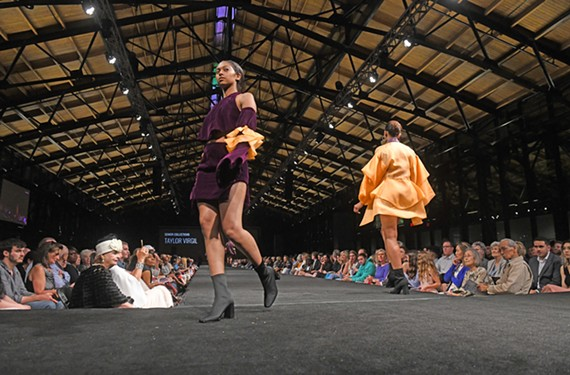 Senior Taylor Virgil's collection during the 50th annual VCU fashion show May 8.