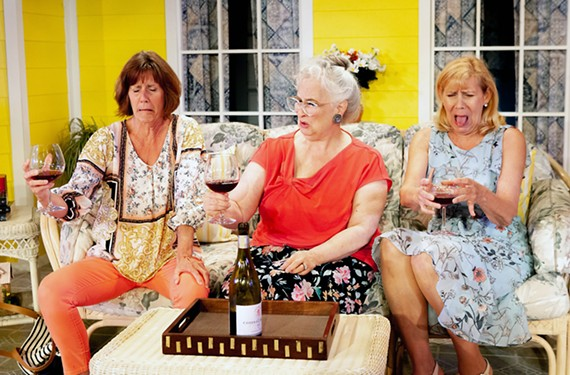 "Robin Arthur, Jacqueline Jones and Joy Williams star in Swift Creek Mill's ""The Savannah Sipping Society"" which runs through July 13."