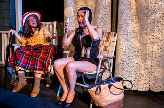 "Boomie Pedersen and Susan Sanford star in ""Grey Gardens,"" which through July 27 at Richmond Triangle Players."