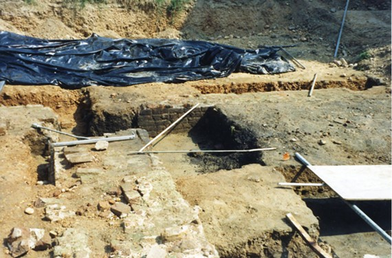 This excavation is of the original 1800 Benjamin Henry Latrobe foundation at the Virginia State Penitentiary.