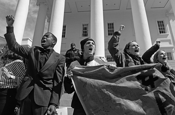 One of the winning images was taken during a National School Walkout to protest gun violence on April 20, 2018, on the steps of the Virginia State Capitol.