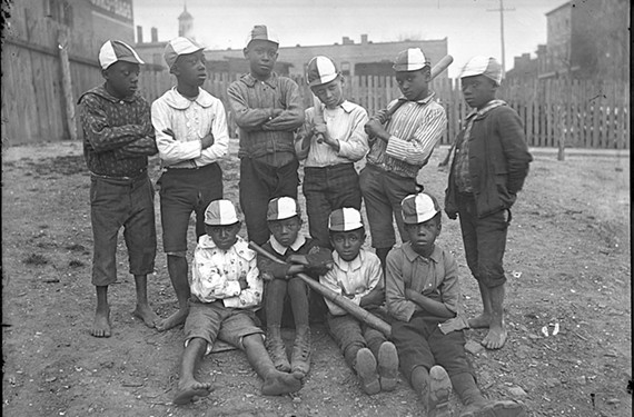 Young members of an unidentified Richmond baseball team strike a pose in this 1890s photograph.