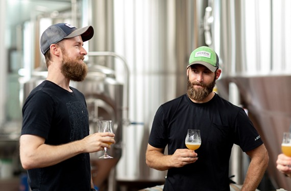 It's been two years since cousins Joey Darragh, left, and Tony Giordano opened Väsen Brewing Co., known for sour beers and outdoor adventures.