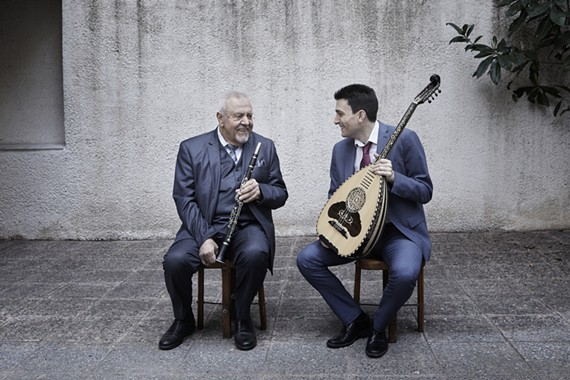 One of the foremost representatives of Greek demotic (folk) music, Petroloukas Halkias, 85, is a master of the clarino (clarinet). He'll be joined by Vasilis Kostas, a groundbreaking performer on the laouto, a long-necked, fretted lute. They sound amazing and were the work of RFF programming board member, Chris King, who wrote a book about Epirus, Greece.