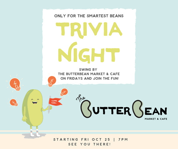 Friday Night Trivia at The Butterbean