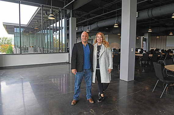 B.J. Kocen and his wife, Jennifer Glave, are the new owners and operators of the Current Art Fair, which runs from Oct. 24 to 27 at the Bon Secours Washington Redskins Training Center.