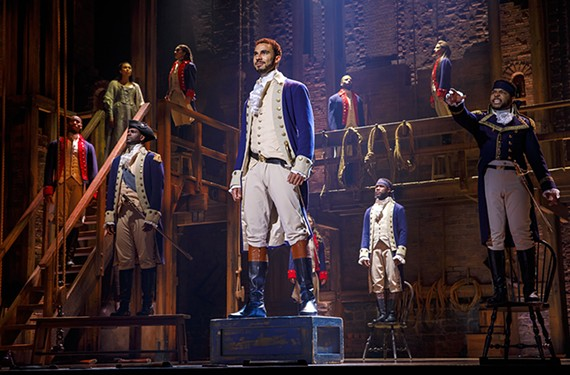 "The Broadway touring production of ""Hamilton"" plays Nov. 19-Dec. 8 at the Altria Theatre."