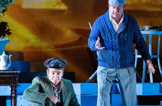 "Daniel Montenegro plays Mario and Raul Melo is the legendary Chilean poet Pablo Neruda in Virginia's Opera's ""Il Postino"" playing Nov. 22 and 24 at the Dominion Energy Center."