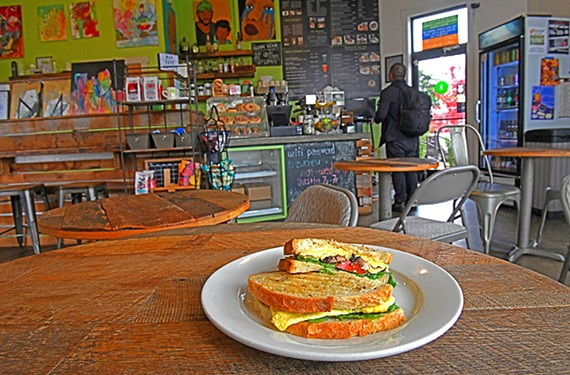 The Exit 73 Veggie Panini at the friendly and comfortable Brewer's Cafe in Manchester.