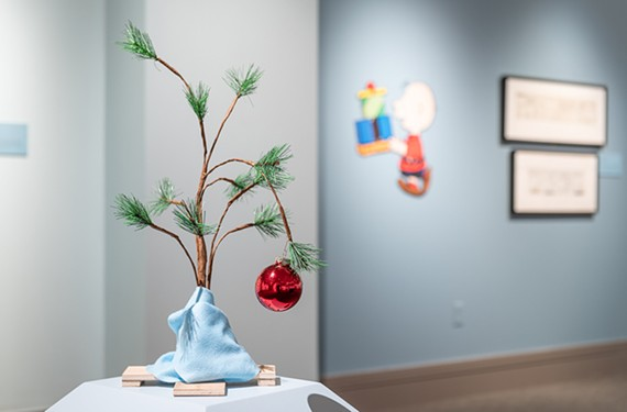 "For some, the sad little Christmas tree from ""A Charlie Brown Christmas,"" a re-creation of which is shown here at the Virginia Museum of History & Culture, is an enduring image of hope and authenticity."
