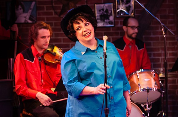 "Debra Wagoner as Patsy Cline in Virginia Repertory Theatre's ""Always ... Patsy Cline."""