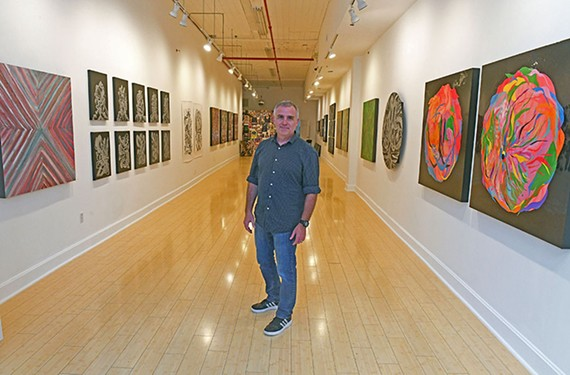 Artist Todd Hale will have his street-front gallery, Antennae Studio, open on the First Friday, Jan. 3, from 6 to 11 p.m.