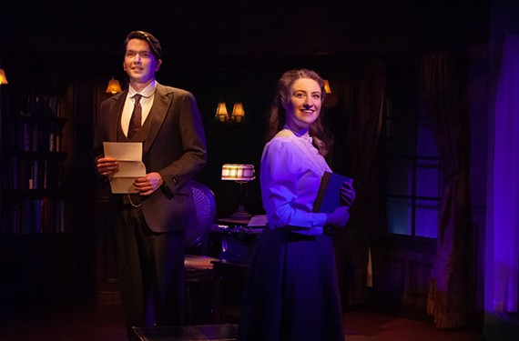 """Matt Polson is charming as Jervis Pendleton and Rachel Marrs' energy is infectious as Jerusha Abbott in Swift Creek Mill's """"Daddy Long Legs."""""""