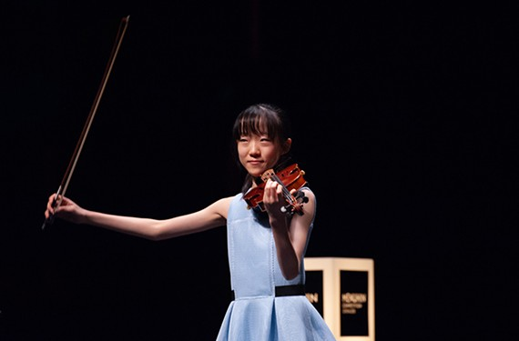 Violinist Caecilia Lee at the Menuhin International Violin Competition held in Geneva in 2018.