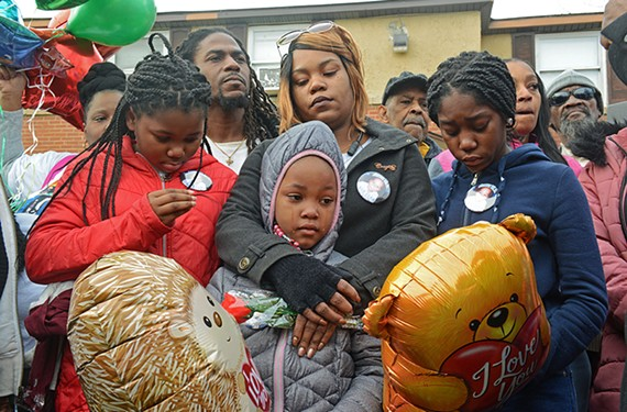 Hundreds gathered last month to pay their respects for 3-year-old Sharmar Hill Jr., who was killed in Hillside Court. The child was playing outside when gunfire erupted. He was killed by a stray bullet.