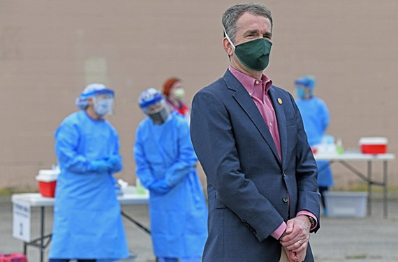 Gov. Ralph Northam is following federal guidelines on easing restrictions during the pandemic and has called for a phased re-emergence of the economy.