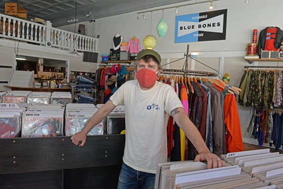 Owner Marty Key stands inside Steady Sounds at 322 W. Broad St. on Friday, May 22. Key will be closing the Richmond favorite next month (not because of COVID-19) and moving out of state. This will not affect Blue Bones Vintage, which shares the space.