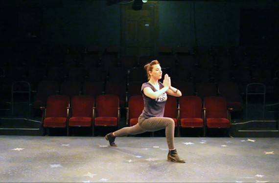 """Irene Kuykendall, education manager at Virginia Repertory Theatre, teaches the virtual """"Acting & Mindful Moment"""" class."""