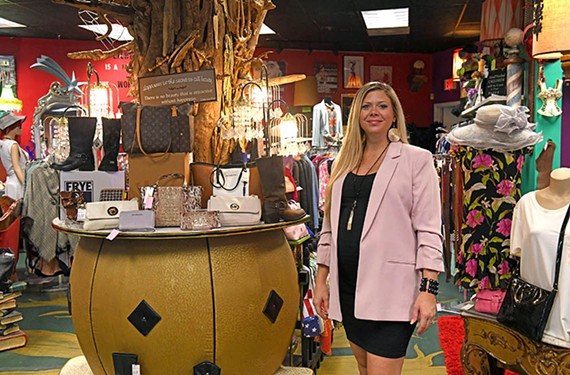 Jessica Deane, owner of Montage consignment boutique, was lucky enough to get three months of rent forgiveness at her Midlothian shop.