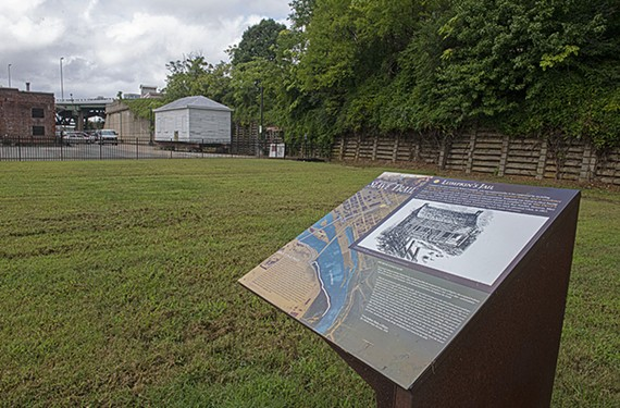 A marker sits at Lumpkin's Jail, once known as the Devil's Half-Acre, which became the location for the first classes of what became Virginia Union University.