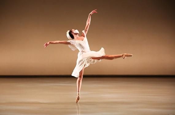 "Sabrina Holland in Richmond Ballet's ""Waltzes Once Forgotten"" by Mate Szentes."