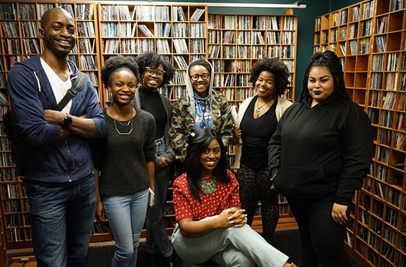 The VPM + ICA Community Media Center is teaching a new generation the art of podcasting while serving as a storytelling incubator for diverse voices in Richmond. Chioke I'Anson, the center's director of community media, is at far left.