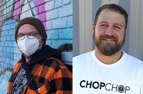 Left: Quickness RVA was founded in 2010 by Frank Bucalo. Right: Chop Chop RVA founder Chris Chandler.