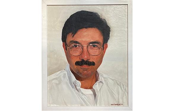 """Portrait of Louis Briel,"" 1996, oil on canvas, Jack Lawrence, artist. Private collection."