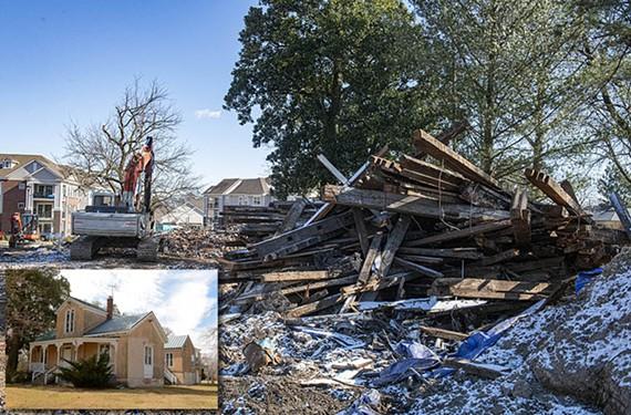 In late January, Union Presbyterian Seminary bulldozed the Westwood House.