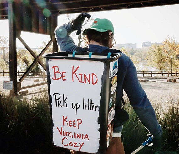 Keep Virginia Cozy's Earth Day Plogging Cleanup, April 25.