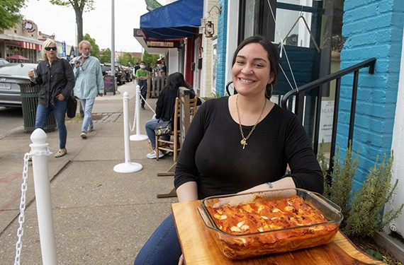 "Angela Petruzzelli (pictured here with her family's lasagna) started her ""rustic, whimsical, southern Italian"" pasta concept, Sprezza, at Broken Tulip this March."