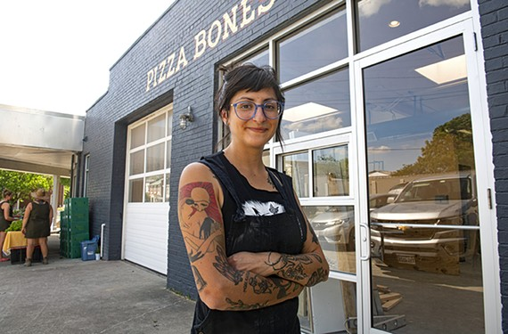 Ashley Patino plans to open Pizza Bones at 2314 Jefferson Ave. in early June.