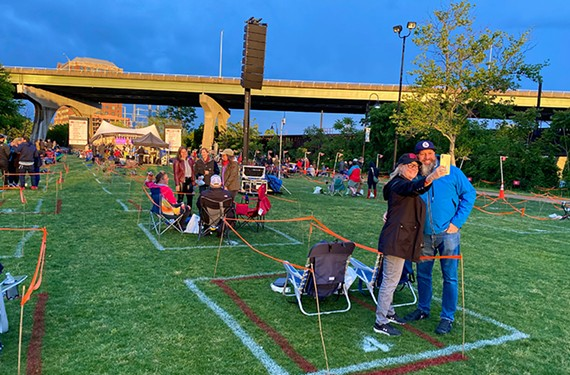 Opening night of Friday Cheers on Brown's Island, May 7.