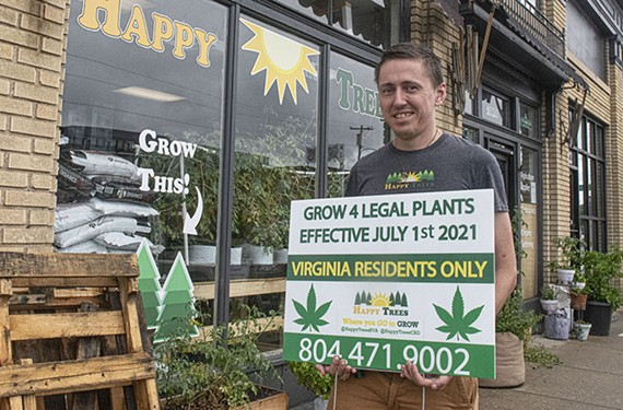 Happy Trees Agricultural Supply co-founder Josiah Ickes.